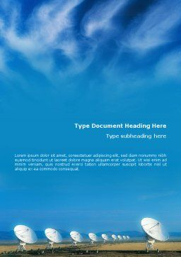 listening To Sky Word Template, Cover Page, 01719, Telecommunication — PoweredTemplate.com