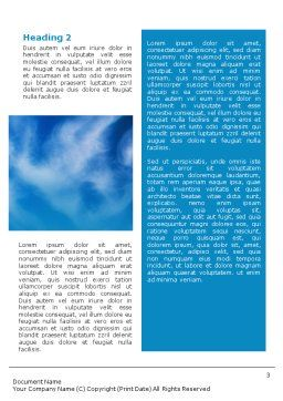 listening To Sky Word Template, Second Inner Page, 01719, Telecommunication — PoweredTemplate.com