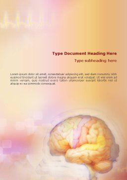 Brain In Pink Colors Word Template Cover Page
