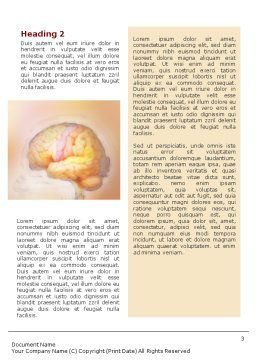 Brain In Pink Colors Word Template Second Inner Page