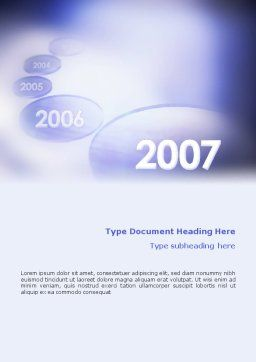 Year 2007 Word Template, Cover Page, 01723, Business Concepts — PoweredTemplate.com