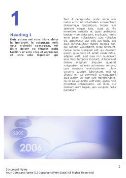 Year 2007 Word Template, First Inner Page, 01723, Business Concepts — PoweredTemplate.com