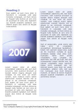 Year 2007 Word Template, Second Inner Page, 01723, Business Concepts — PoweredTemplate.com