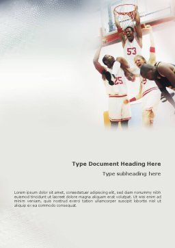 Basketball Game Word Template, Cover Page, 01724, Sports — PoweredTemplate.com