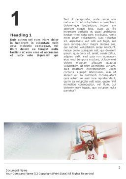 Basketball Game Word Template, First Inner Page, 01724, Sports — PoweredTemplate.com