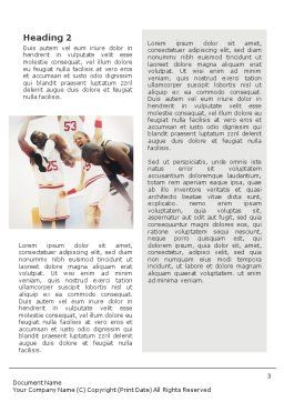 Basketball Game Word Template, Second Inner Page, 01724, Sports — PoweredTemplate.com
