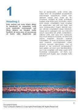 Flamingo Word Template, First Inner Page, 01725, Agriculture and Animals — PoweredTemplate.com