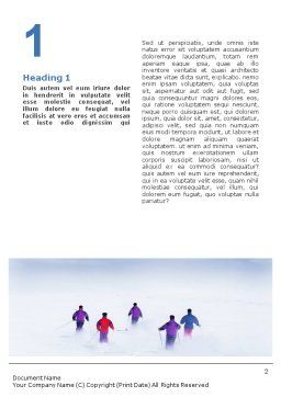 Skiing in Alps Word Template, First Inner Page, 01726, Sports — PoweredTemplate.com