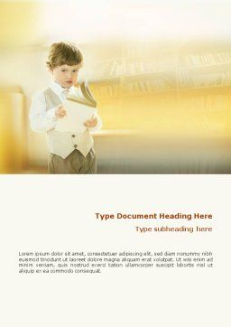 Reading Word Template, Cover Page, 01732, Education & Training — PoweredTemplate.com