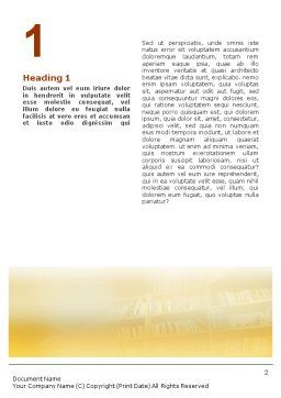 Reading Word Template, First Inner Page, 01732, Education & Training — PoweredTemplate.com