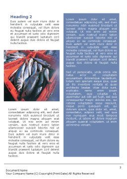 Fishery Word Template, Second Inner Page, 01733, Careers/Industry — PoweredTemplate.com