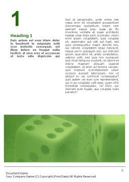 Dice On A Green Cloth Word Template First Inner Page