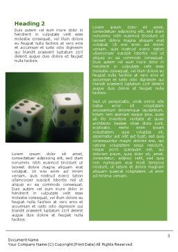 Dice On A Green Cloth Word Template Second Inner Page
