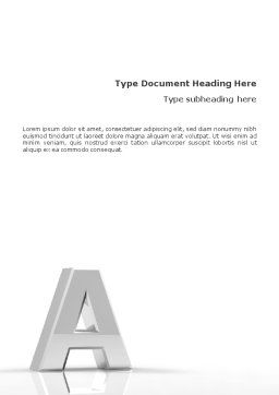 3D Letter Word Template, Cover Page, 01736, 3D — PoweredTemplate.com
