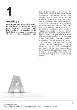 3D Letter Word Template, First Inner Page, 01736, 3D — PoweredTemplate.com