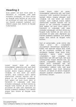 3D Letter Word Template, Second Inner Page, 01736, 3D — PoweredTemplate.com