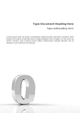 3D Number Word Template, Cover Page, 01737, 3D — PoweredTemplate.com