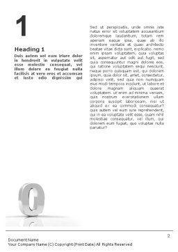 3D Number Word Template, First Inner Page, 01737, 3D — PoweredTemplate.com