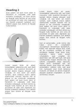 3D Number Word Template, Second Inner Page, 01737, 3D — PoweredTemplate.com