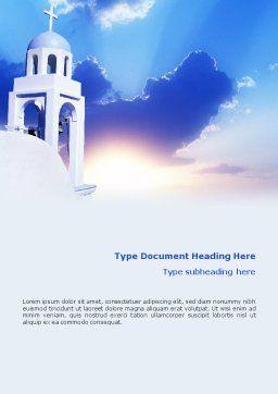 Belfry Word Template, Cover Page, 01739, Religious/Spiritual — PoweredTemplate.com