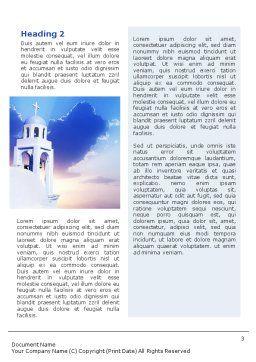 Belfry Word Template, Second Inner Page, 01739, Religious/Spiritual — PoweredTemplate.com