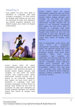 City Jogging Word Template, Second Inner Page, 01740, Sports — PoweredTemplate.com