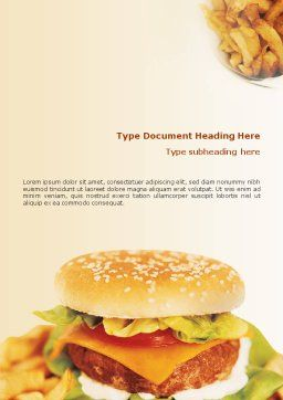 Fast Food Word Template, Cover Page, 01741, Food & Beverage — PoweredTemplate.com