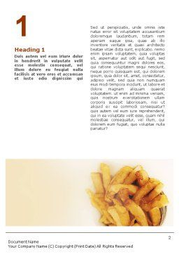 Fast Food Word Template, First Inner Page, 01741, Food & Beverage — PoweredTemplate.com