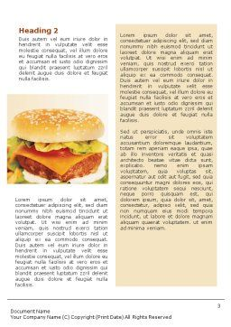 Fast Food Word Template, Second Inner Page, 01741, Food & Beverage — PoweredTemplate.com