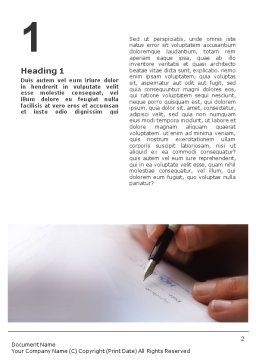 Signature Word Template, First Inner Page, 01742, Business — PoweredTemplate.com