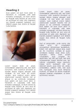 Signature Word Template, Second Inner Page, 01742, Business — PoweredTemplate.com