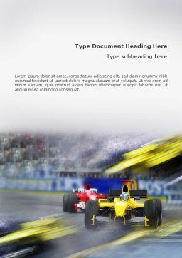 Auto Racing Word Template, Cover Page, 01744, Sports — PoweredTemplate.com
