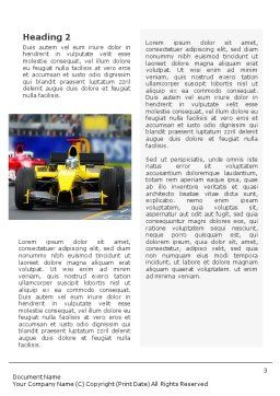 Auto Racing Word Template, Second Inner Page, 01744, Sports — PoweredTemplate.com