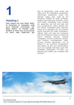 Fighter Aircraft Word Template, First Inner Page, 01747, Military — PoweredTemplate.com