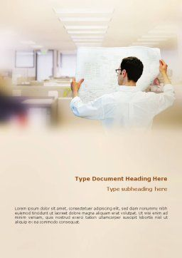 Building Architecture Word Template, Cover Page, 01748, Construction — PoweredTemplate.com