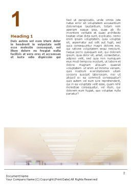Building Architecture Word Template, First Inner Page, 01748, Construction — PoweredTemplate.com