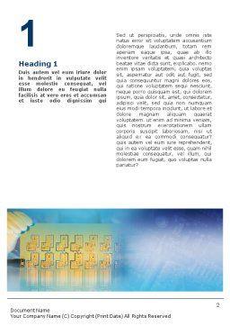 Technology Development Word Template, First Inner Page, 01750, Technology, Science & Computers — PoweredTemplate.com