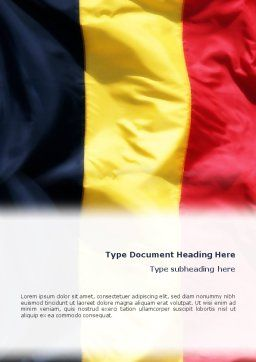 Belgian Flag Word Template, Cover Page, 01751, Flags/International — PoweredTemplate.com