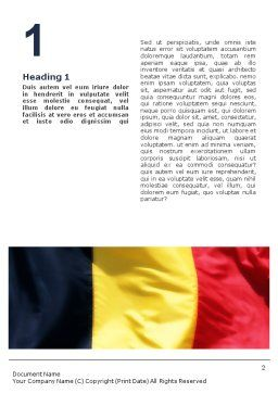 Belgian Flag Word Template First Inner Page
