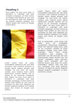 Belgian Flag Word Template, Second Inner Page, 01751, Flags/International — PoweredTemplate.com