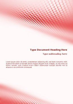 Perforated Red Word Template, Cover Page, 01754, Abstract/Textures — PoweredTemplate.com
