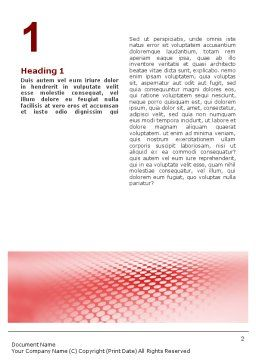 Perforated Red Word Template, First Inner Page, 01754, Abstract/Textures — PoweredTemplate.com