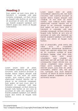 Perforated Red Word Template, Second Inner Page, 01754, Abstract/Textures — PoweredTemplate.com