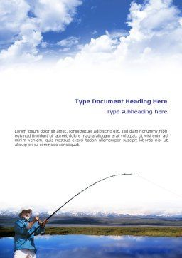 Sport Fishing Word Template, Cover Page, 01756, Sports — PoweredTemplate.com