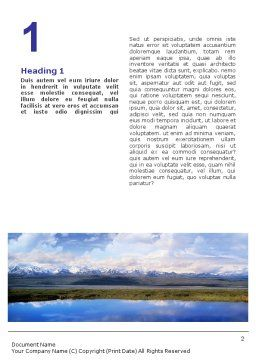 Sport Fishing Word Template, First Inner Page, 01756, Sports — PoweredTemplate.com