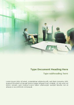 Consultative Word Template, Cover Page, 01759, Consulting — PoweredTemplate.com