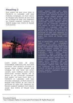 Industrial Word Template, Second Inner Page, 01761, Utilities/Industrial — PoweredTemplate.com