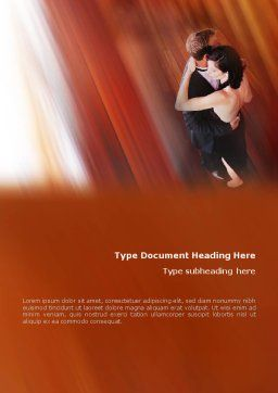 Dancing Couple Word Template Cover Page