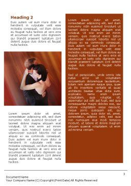 Dancing Couple Word Template Second Inner Page