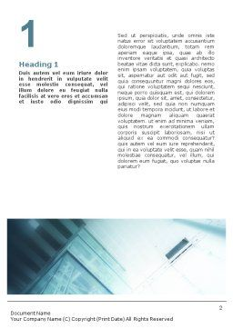 Elevator Word Template, First Inner Page, 01763, Construction — PoweredTemplate.com